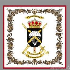 Militaria: AZULEJO 15X15 CON ESCUDO DE LA BRIGADA ALMOGÁVARES VI DE PARACAIDISTAS, BOP VI. Lote 172832209