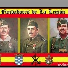 Militaria: AZULEJOS 20X30 DE LOS FUNDADORES DE LA LEGIÓN ESPAÑOLA. Lote 61397723
