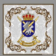 Militaria: AZULEJO 20X20 CON ESCUDO DE LA BRIGADA GALICIA VII, BOP VII. Lote 62132568