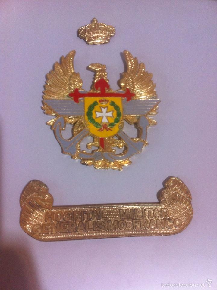 METOPA SIN MADERA.HOSPITAL GENERALÍSIMO FRANCO. (Militar - Reproducciones, Réplicas y Objetos Decorativos)