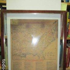 Militaria: REPRODUCCION DEL MAPA DE GUERRA CIVIL DE ESTADOS UNIDOS 1861 - 1865 / CIVIL WAR BATTLEFIELDS . Lote 64423423