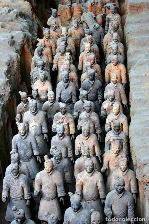 Militaria: 5 guerreros de terracota del emperador Qin Shihuang. Artículo actual. - Foto 7 - 76845533