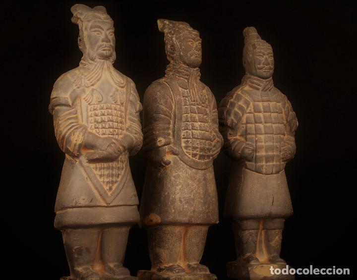 Militaria: 3 Guerreros terracota del emperador Qin Shihuang. Tamaño grande. - Foto 2 - 144797457