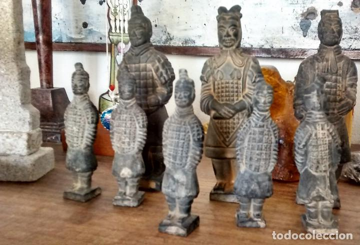 Militaria: 3 Guerreros terracota del emperador Qin Shihuang. Tamaño grande. - Foto 3 - 144797457
