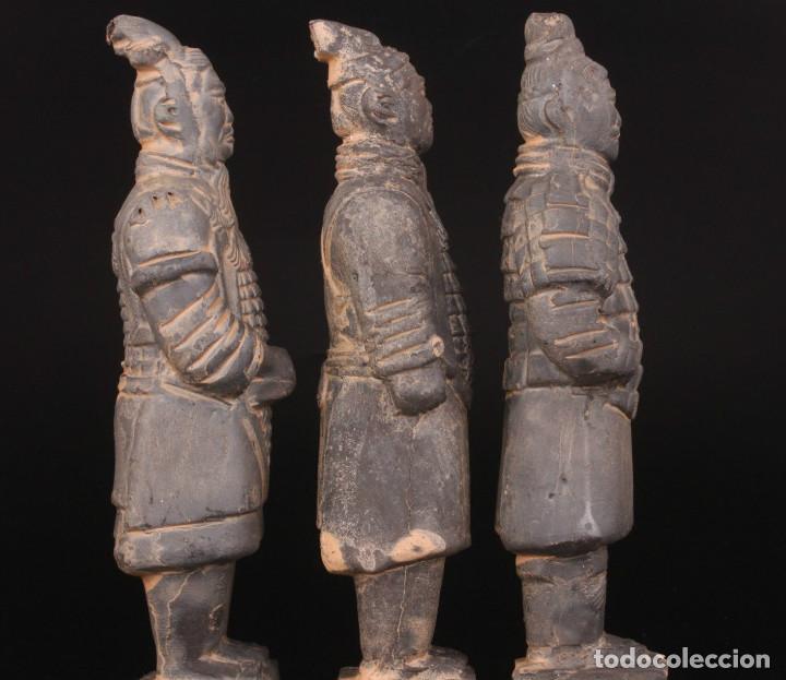 Militaria: 3 Guerreros terracota del emperador Qin Shihuang. Tamaño grande. - Foto 5 - 144797457