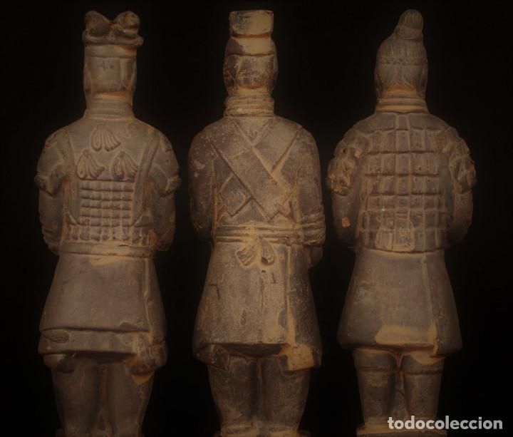 Militaria: 3 Guerreros terracota del emperador Qin Shihuang. Tamaño grande. - Foto 6 - 144797457