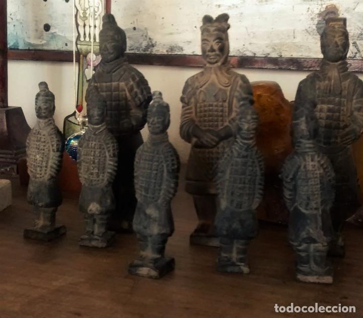 Militaria: 3 Guerreros terracota del emperador Qin Shihuang. Tamaño grande. - Foto 9 - 144797457