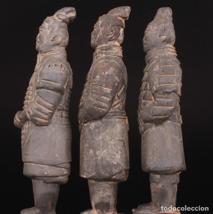Militaria: 3 Guerreros terracota del emperador Qin Shihuang. Tamaño grande. - Foto 10 - 144797457
