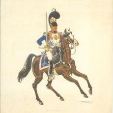 Militaria: CUERPOS DE CABALLERIA - 6 LÁMINAS DE JOSE Mª BUENO - (31X32,5). Lote 66679314