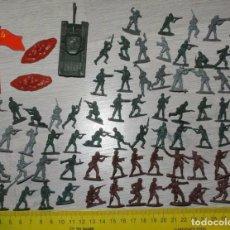 Militaria: LOTE SOLDADILOS SOVIETICOS CON TANQUE .URSS. Lote 67983909