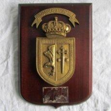 Militaria: METOPA DE BRONCE Y MADERA BRIGADA AEROTRANSPORTABLE. Lote 68320057