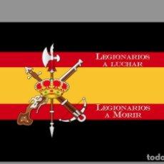 Militaria: AZULEJO 20X30 CON EL EMBLEMA DE LA LEGION Y LA FRASE LEGIONARIOS A LUCHAR,LEGIONARIOS A MORIR.. Lote 71654539