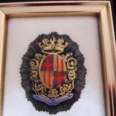 Militaria: ESCUDO INSIGNIA DE LA GUARDIA URBANA DE BARCELONA / CUADRO PEQUEÑO ESMALTADO. Lote 76890391
