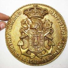 Militaria: GRAN MEDALLA INSIGNIA METOPA CAPITANIA GENERAL DE LA ZONA MARITIMA DEL MEDITERRANEO BRONCE ORO. Lote 77554381