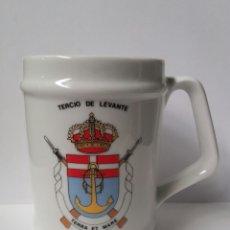 Militaria: TAZA JARRA INFANTERIA DE MARINA TERCIO DE LEVANTE CARTAGENA. Lote 107419760