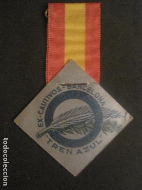 DIVISION AZUL - MEDALLA DE CARTON CON CINTA- EX CAUTIVOS BARCELONA - TREN AZUL- VER FOTOS - (V-9729) (Militar - Reproducciones, Réplicas y Objetos Decorativos)