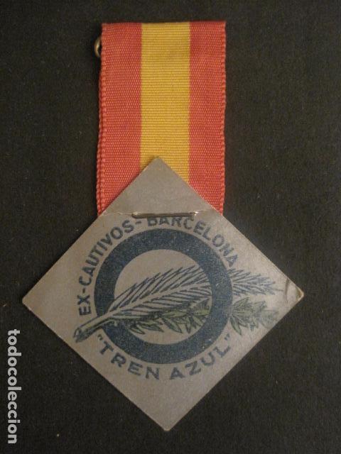 Militaria: DIVISION AZUL - MEDALLA DE CARTON CON CINTA- EX CAUTIVOS BARCELONA - TREN AZUL- VER FOTOS - (V-9729) - Foto 2 - 80135349