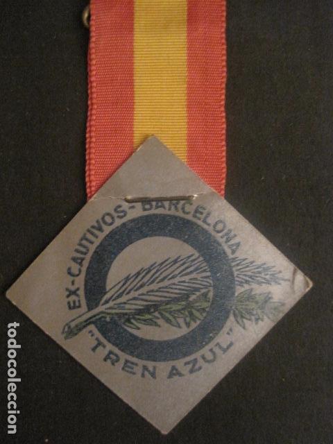 Militaria: DIVISION AZUL - MEDALLA DE CARTON CON CINTA- EX CAUTIVOS BARCELONA - TREN AZUL- VER FOTOS - (V-9729) - Foto 3 - 80135349