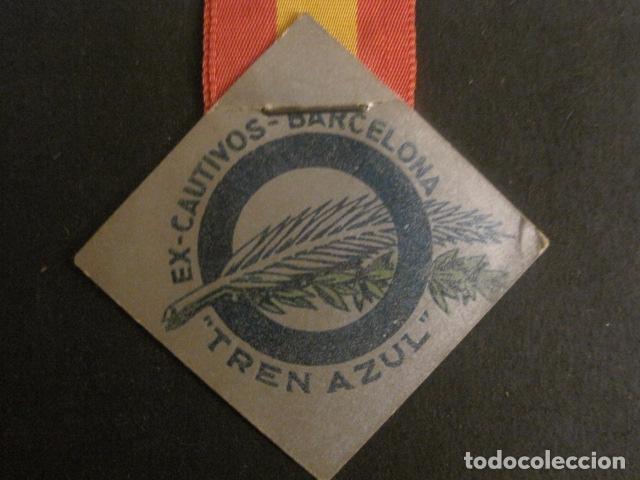 Militaria: DIVISION AZUL - MEDALLA DE CARTON CON CINTA- EX CAUTIVOS BARCELONA - TREN AZUL- VER FOTOS - (V-9729) - Foto 4 - 80135349