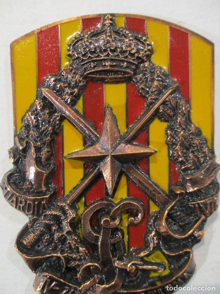 Militaria: ESCUDO GUARDIA CIVIL-V ZONA BARCELONA-RELIEVE-PERFECTO ESTADO - Foto 4 - 80221465