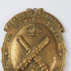 Militaria: PARQUE DE ARTILLERÍA DE MELILLA. CAMPAÑA DE MARRUECOS. GUERRA DE ÁFRICA. 12CM. BRONCE.. Lote 81790408