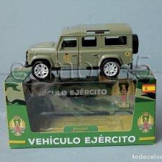 Militaria: VEHÍCULO MILITAR A ESCALA DEL EJÉRCITO DE TIERRA - METAL Y PLÁSTICO- ÉPOCA JCI. Lote 83708124
