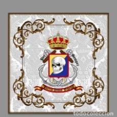 Militaria: AZULEJO 20X20 CON EMBLEMA DE LA BRIGADA DE INFANTERÍA DE MARINA (BRIMAR). Lote 83818436