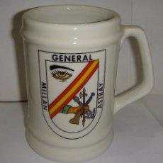 Militaria: JARRA DE COLECCIÓN. CERÁMICA. GENERAL MILLÁN ASTRAY. LEGIÓN.. Lote 84862956