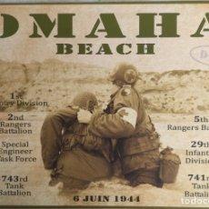 Militaria: PANEL CONMEMORATIVO DESEMBARCO DE NORMANDIA OMAHA BEACH.. Lote 60419614