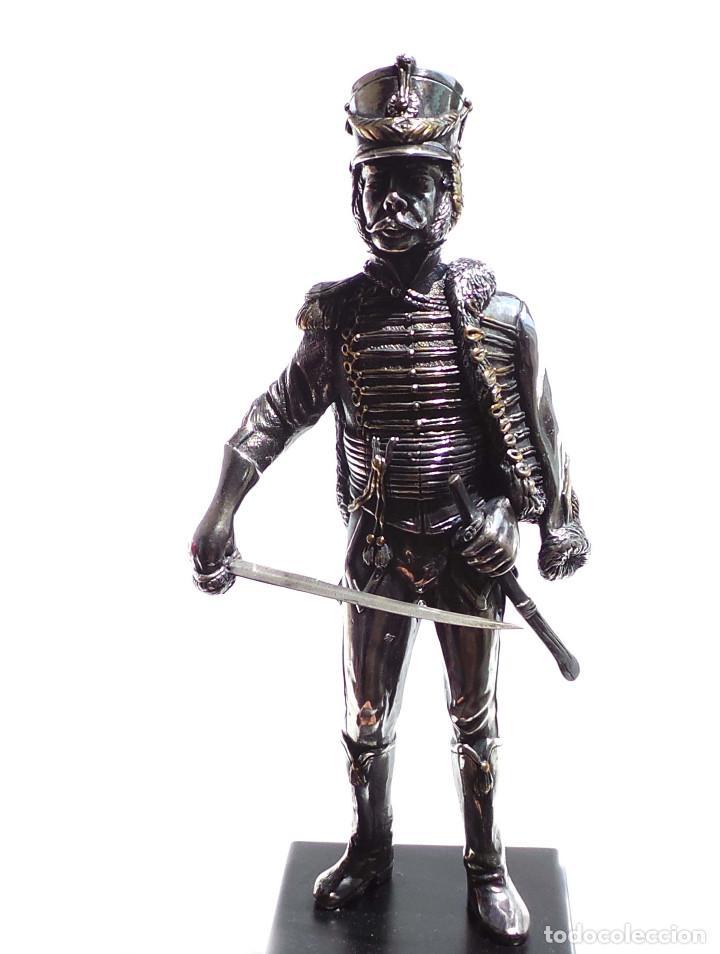 Militaria: PRECIOSA FIGURA EN PLATA DE LEY HUSAR DE CABALLERÍA. S.XIX - 25 ALTO X 8 CM ANCHO PESO 460 GRAMOS - Foto 18 - 90638950