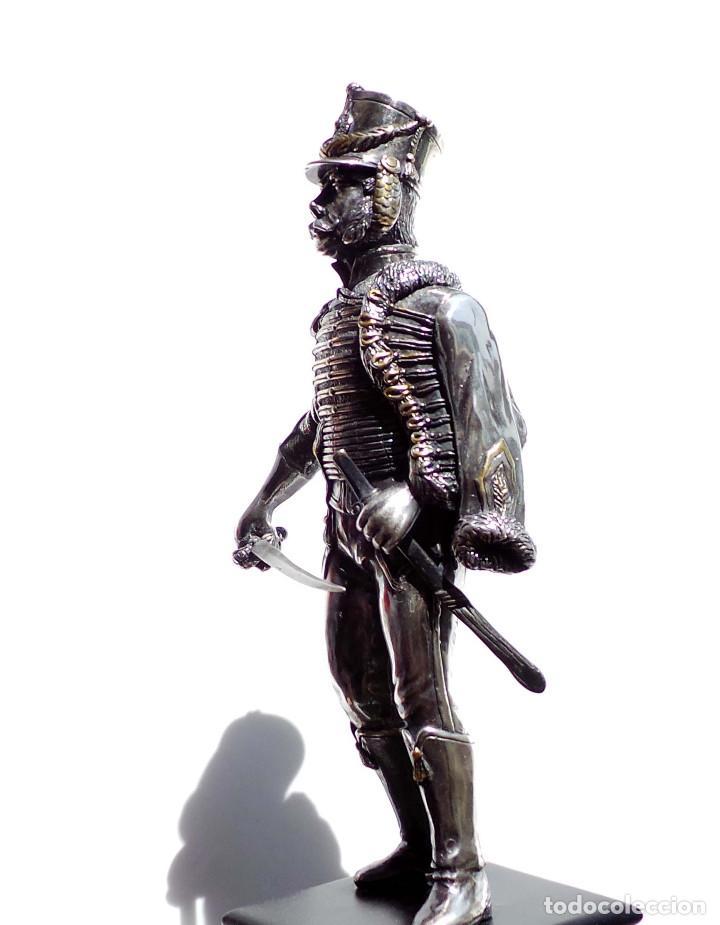 Militaria: PRECIOSA FIGURA EN PLATA DE LEY HUSAR DE CABALLERÍA. S.XIX - 25 ALTO X 8 CM ANCHO PESO 460 GRAMOS - Foto 19 - 90638950