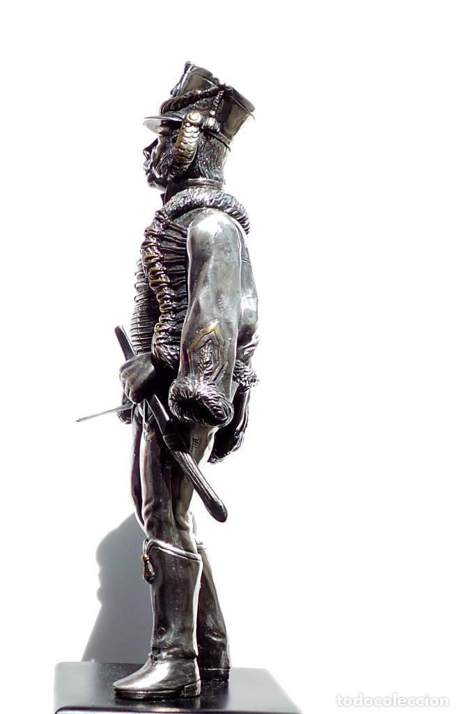 Militaria: PRECIOSA FIGURA EN PLATA DE LEY HUSAR DE CABALLERÍA. S.XIX - 25 ALTO X 8 CM ANCHO PESO 460 GRAMOS - Foto 20 - 90638950
