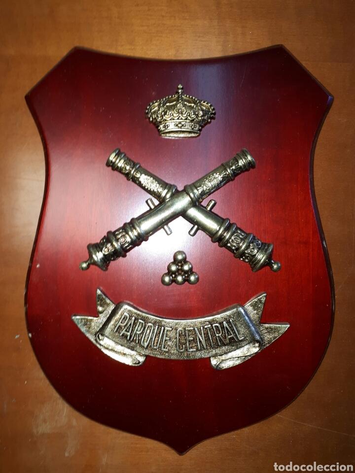 METOPA MADERA Y BRONCE PARQUE CENTRAL DE ARTILLERIA 26X19 (Militar - Reproducciones, Réplicas y Objetos Decorativos)