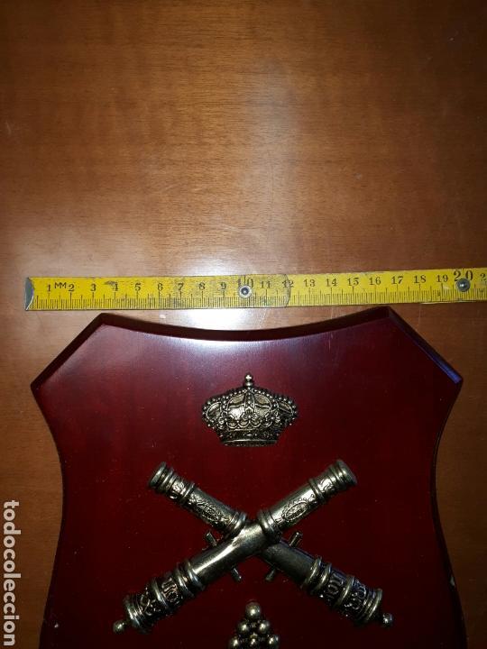 Militaria: METOPA MADERA Y Bronce PARQUE CENTRAL DE ARTILLERIA 26X19 - Foto 4 - 93990385