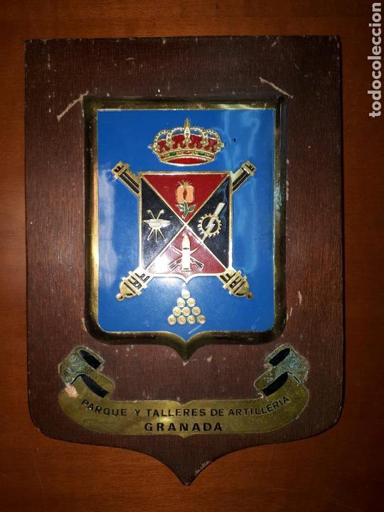 METOPA DEL PARQUE Y TALLERES DE ARTILLERIA DE GRANADA. (Militar - Reproducciones, Réplicas y Objetos Decorativos)