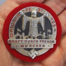 Militaria: DIVISA NAZI TERCER REICH, OKTOBERFEST 1934 , NSDAP SUPER RARO. Lote 95690839