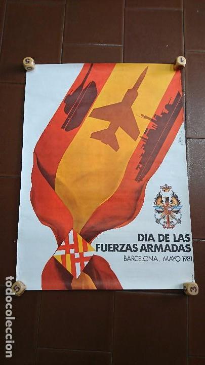 Militaria: CARTEL, PÓSTER MILITAR, BARCELONA 1981 - Foto 2 - 94931131