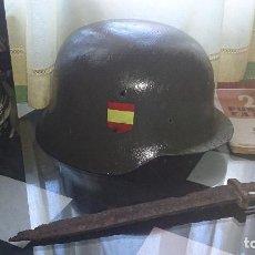 Militaria: CASCO DIVISION AZUL! GRAN REPRODUCCIÓN DESDE CASCO Z ORIGINAL! LEER DESCRIPOCION. ALEMAN SS. Lote 97722911
