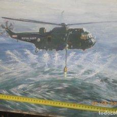 Militaria: OLEO AVIACION.HELICOPTERO INGLES. Lote 98550051