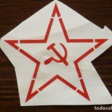 Militaria: CALCA PARA CASCO EJERCITO RUSO, URSS. FRONTAL.. Lote 131134147