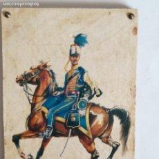 Militaria: CUADRO CABALLERÍA HÚSARES DE LA PRINCESA. 1833. ESPAÑA. 1968. POSTAL LÁMINA. Lote 99667743