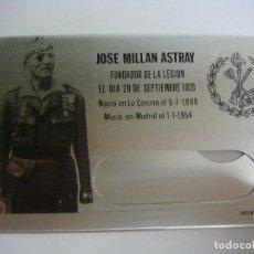 Militaria: PORTACARNET DE IDENTIDAD EN CHAPA DE JOSE MILLAN ASTRAY FUNDADOR LEGION (#). Lote 99885599