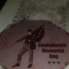 Militaria: CHAPA METÁLICA DE SOLDADO CONFEDERADO. Lote 101400507