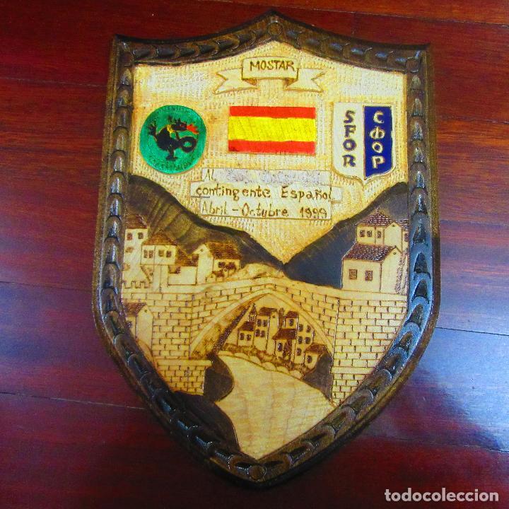 METOPA MILITAR, MISIONES INTERNACIONALES, MOSTAR (Militar - Reproducciones, Réplicas y Objetos Decorativos)