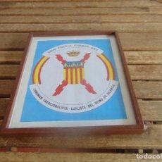 Militaria: CUADRO CARLISMO DIOS PATRIA FUEROS REY COMUNION TRADICIONALISTA CARLISTA DEL REINO DE VALENCIA. Lote 104988687