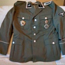 Militaria: CHAQUETA UNIFORME ALEMAN SS NAZI LANGEMARCK REICH 3 LUFTWAFFE KRIEGSMETALL REPRODUCCION. Lote 124629936