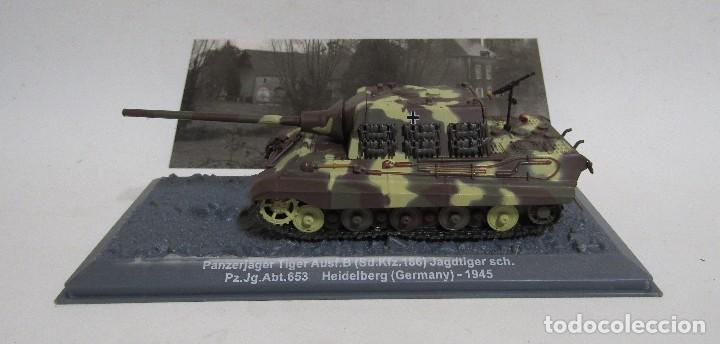 Militaria: PANZERJAGER TIGER AUSF. B -HEIDELBERG- (GERMANY) COLECCION PANZER ALTAYA CON SU CAJA Y FOTO/FICHA - Foto 3 - 107384927
