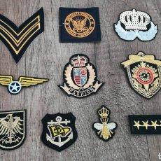 Militaria: *LOTE DE 10 PARCHES MILITARES* COLECCION MILITAR*. Lote 110013614