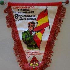 Militaria: BANDERÍN MILITAR. RECUERDO DE LA JURA DE BANDERA EN EL CAMPAMENTO CIR 6. ÁLVAREZ SOTOMAYOR. 34X21 CM. Lote 110261495