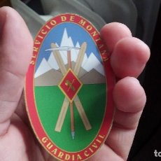 Militaria: GUARDIA CIVIL SERVICIO DE MONTAÑA PEGATINA GRANDE PROFESIONAL LEER NOTA!. Lote 200076172